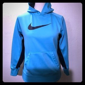 Nike Therma Fit Turquoise & Black Hoodie Size L